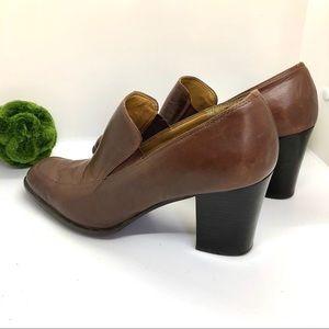 ETIENNE AIGNER Leather Brown Square Vintage Shoes